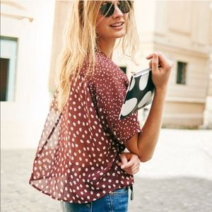 Madewell Silk Prose top – Paintdot Brush